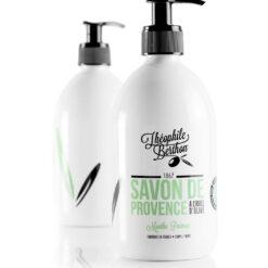 Duo Savon de Provence shower gel. 80% olive oil. Peppermint. Théophile Berthon
