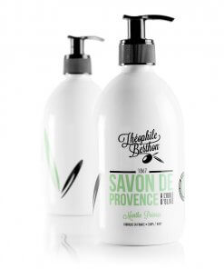 Duo Savon de Provence shower gel. 80% olive oil. Peppermint. Théophile Berthon