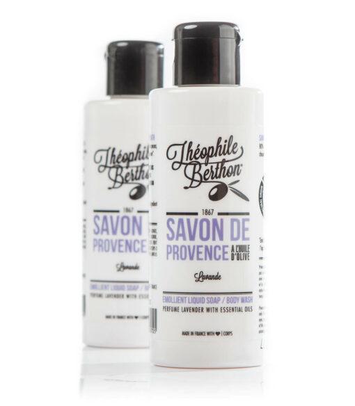 Duo Savon de Provence shower gel. 80% olive oil. Lavender. Théophile Berthon