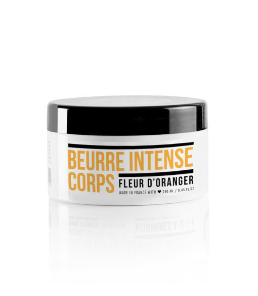 Intense body balm enriched with 6 natural active ingredients such organic Olive oil. Orange blossom.