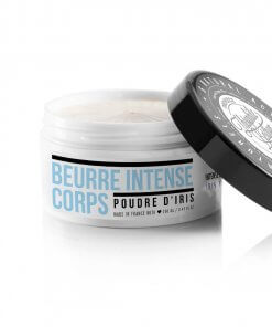 Intense body balm enriched with 6 natural active ingredients such organic Olive oil. Iris powder.
