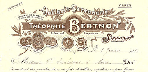 facture ancienne Berthon