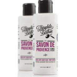Savon de Provence shower gel. 80% olive oil. Blackberry