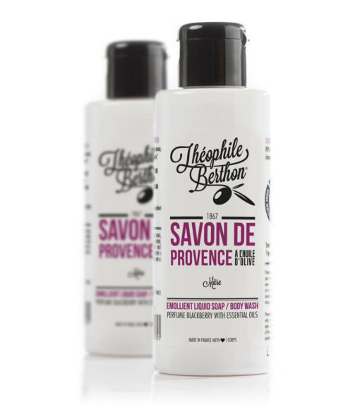 Savon de Provence shower gel. 80% olive oil. Blackberry