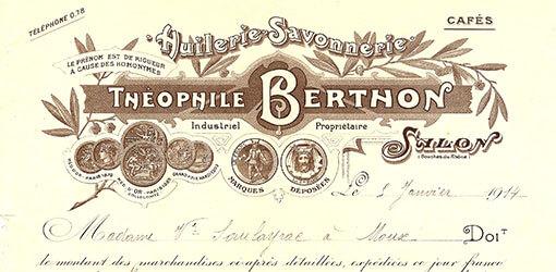ancienne facture Théophile Berthon