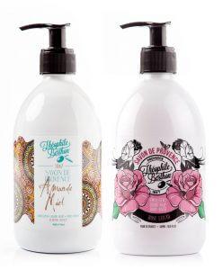 Duo de savons de Provence senteur miel et rose-litchi