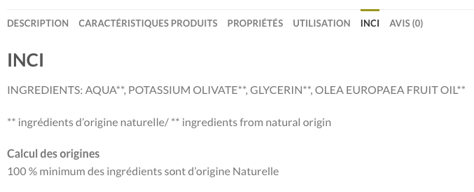 INCI, les ingrédients de nos cosmétiques