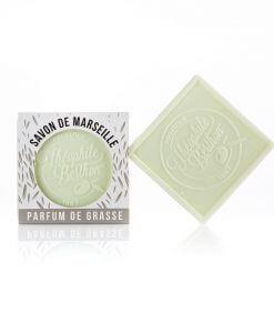 Scented Marseille soap bars. The square. Verbena.