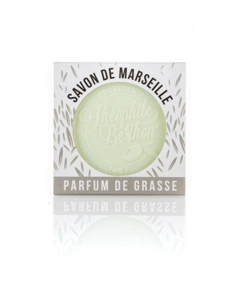 Scented Marseille soap bars. The square.Verbena.