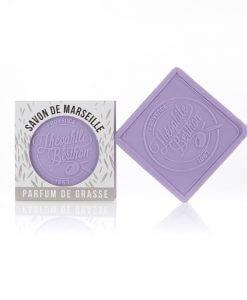 Scented Marseille soap bars. The square. 1.76 OZ. Lavender.