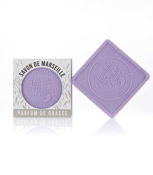 Scented Marseille soap bars. The square. 1.76 OZ. Lavender.